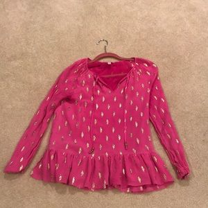 Adorable hot pink Lilly blouse